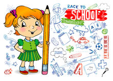 Funny doodles - Back to school Royalty Free Stock Photo
