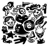 Funny doodles set Royalty Free Stock Photo