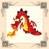 Funny Dragon Royalty Free Stock Photography
