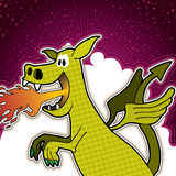 Funny dragon background Stock Photo