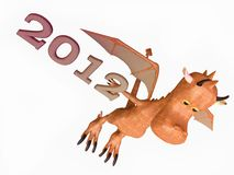 Funny Dragon Bringing a New Year Royalty Free Stock Photo