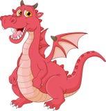 Funny dragon cartoon. Vector illustration of funny dragon cartoon Stock Photography