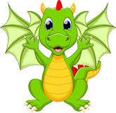 Funny dragon cartoon Royalty Free Stock Photography