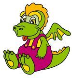 Funny dragon. Smiling monster; lizard Stock Images