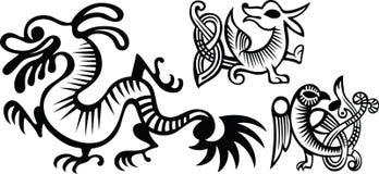 Funny dragons Stock Photos