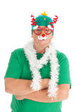 Funny dressed for Christmas Stock Photography