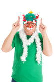 Funny dressed for Christmas Royalty Free Stock Photography