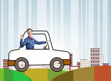 Funny driver Stock Images