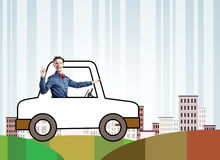 Funny driver Royalty Free Stock Image