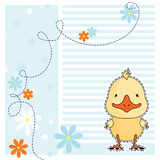 Funny duck, greeting card, vector Stock Images