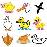 Funny duck icons Royalty Free Stock Photo