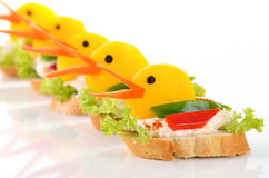 Funny duck morsels Stock Photo