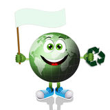 Funny earth with recycle symbol Stock Photography