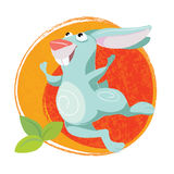 Funny Easter art with Rabbit. Funny Easter art with happy Rabbit Royalty Free Stock Images