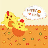 Funny Easter background Royalty Free Stock Image