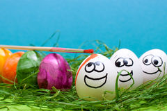 Funny easter background Royalty Free Stock Images
