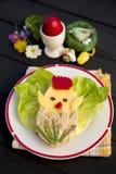 Funny easter breakfast for children Stock Photo