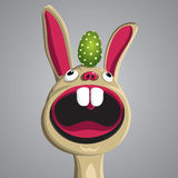 Funny Easter Bunny. Easter funny bunny with egg on his head, vector, format eps10 Royalty Free Stock Photography