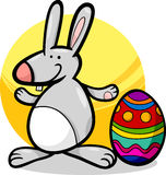 Funny easter bunny cartoon illustration Stock Images