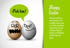 Funny easter card with easter eggs Royalty Free Stock Photo