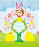 Funny Easter card Stock Photo