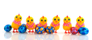 Funny easter chicks Royalty Free Stock Photography