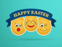 Funny Easter egg friends. Royalty Free Stock Image