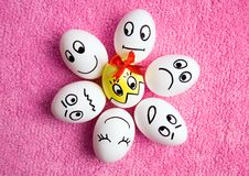 Funny Easter eggs Stock Photos