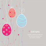 Funny easter eggs. With circles royalty free illustration