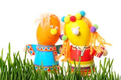 Funny easter eggs Royalty Free Stock Photography