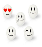 Funny Easter eggs emotions Royalty Free Stock Photo