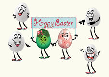 Funny Easter eggs Stock Photo