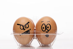 Funny easter eggs Royalty Free Stock Images