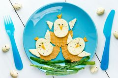 Funny Easter food for kids stock photos