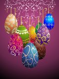 Funny Easter garland with eggs Royalty Free Stock Image