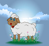 Funny easter sheep eps8 Stock Photos