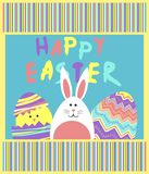 Funny easter vector with colorful Stock Photography