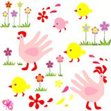 Funny easter wallpaper Royalty Free Stock Images