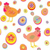 Funny easter wallpaper Royalty Free Stock Photography