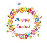 Funny easter wreath Stock Photo
