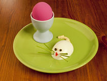 Funny egg for children Stock Photos