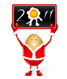 Funny egg santa claus Stock Photography