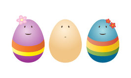 Funny eggs Royalty Free Stock Image