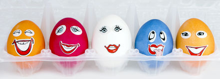 Funny eggs Royalty Free Stock Photos