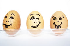 Funny Eggs Stock Image