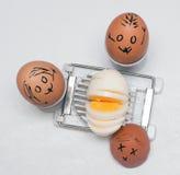 Funny eggs Stock Image