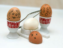 Funny eggs Royalty Free Stock Photography