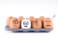 Funny eggs Royalty Free Stock Photo