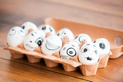 Funny eggs. Royalty Free Stock Photos