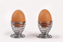 Funny eggs Stock Photo